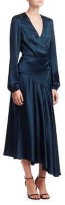 A.L.C. Darby Satin Wrap Midi Dress