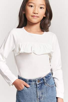 Forever 21 Girls Ruffle-Front Top (Kids)