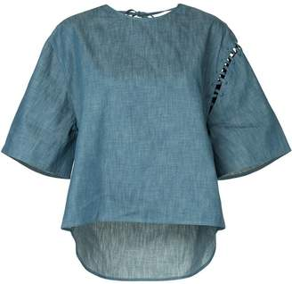 Miharayasuhiro wide sleeved denim T-shirt