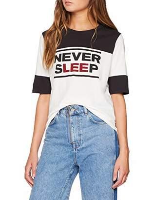 Lee Women's Colorblock T T-Shirt, (Faded Black Kd)