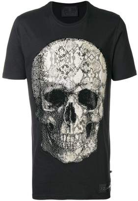 Philipp Plein python studded skull T-shirt