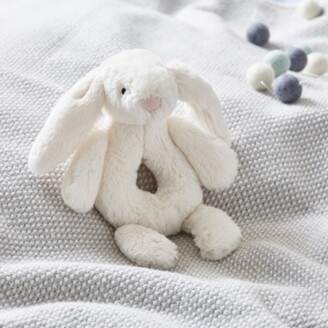 The White Company Jellycat Bashful Bunny Rattle, Cream, One Size