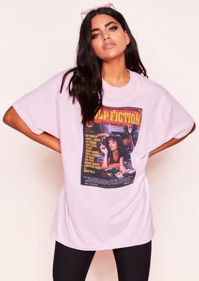 405db7c2 Missy Empire Missyempire Mia Pink Graphic Oversized T-Shirt