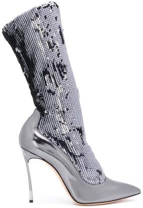 Casadei sequin embellished stiletto boots