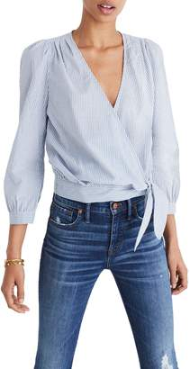 Madewell Stripe Wrap Top