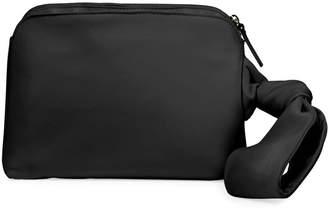 The Row Zip-Top Leather Wristlet