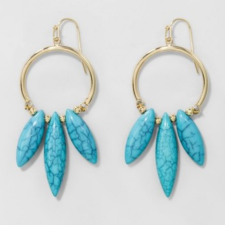 SUGARFIX by BaubleBar Embellished Hoop Earrings - Turquoise $9.99 thestylecure.com