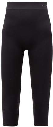 Falke Logo Print Cropped Jersey Leggings - Womens - Black