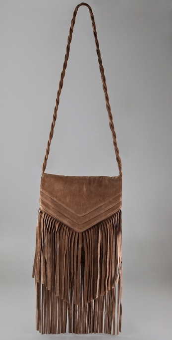Jj Winters Large Suede Fringe Bag
