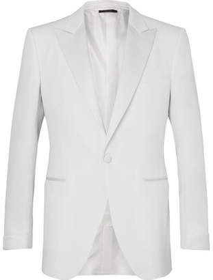 Tom Ford Cream O'Connor Slim-Fit Faille-Trimmed Wool and Mohair-Blend Tuxedo Jacket