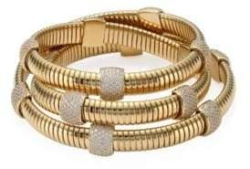 Adriana Orsini 10K Gold-Plated Pave Station Wrap Bracelet