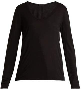 The Row Baxerton Long Sleeved T Shirt - Womens - Black