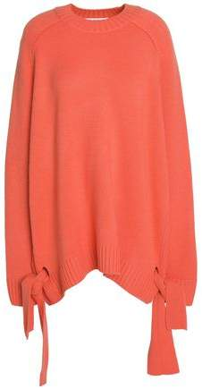 Oversized Knot-Detailed Cashmere Sweater