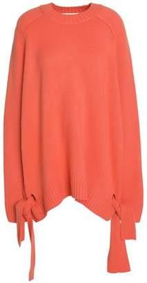 Tibi Oversized Knot-Detailed Cashmere Sweater