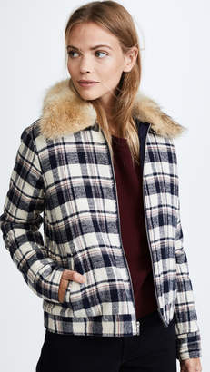 Jenni Kayne Fur Flannel Zip Jacket