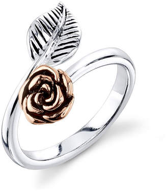 Footnotes Womens 14mm Sterling Silver Bypass Ring