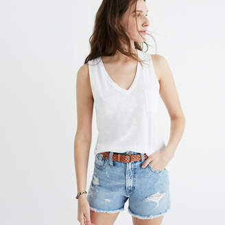 Whisper Cotton V-Neck Pocket Tank $22.50 thestylecure.com