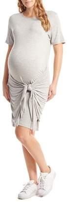 Everly Grey Maternity Maya Front Knot Dress (Maternity)