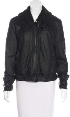 Free People Long Sleeve Flight Jacket