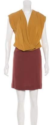 Diane von Furstenberg Silk Draped Dress Yellow Silk Draped Dress