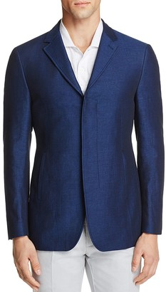 John Varvatos Star USA LUXE Chambray Slim Fit Sport Coat with Slash Pockets $495 thestylecure.com