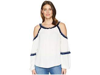 Rock and Roll Cowgirl Cold Shoulder B4-6066