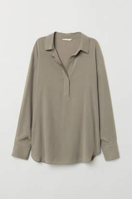 H&M Cupro-blend Shirt - Green