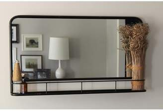 Gracie Oaks Cadbury Metal Accent Mirror with Shelf