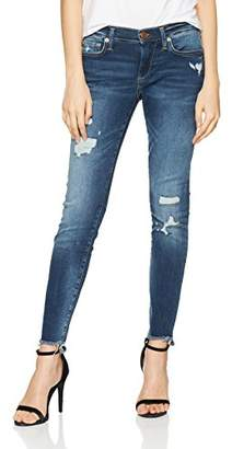 True Religion Women's Halle Skinny Jeans, (Blue Denim Destroyed 4000), 31W x 32L