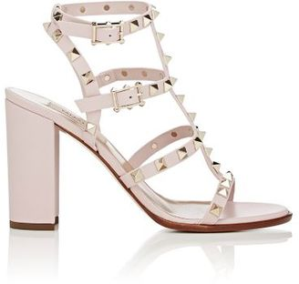 Valentino Women's Rockstud Triple-Strap Sandals-LIGHT PINK $1,045 thestylecure.com