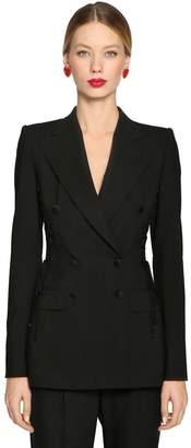 Dolce & Gabbana Lace-Up Stretch Cool Wool Blazer