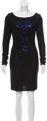 Mark & James by Badgley Mischka by Badgley Mischka Sequin-Accented Long Sleeve Dress