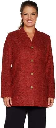 Susan Graver Boucle Button Front Duster