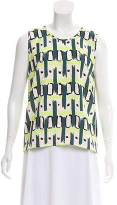 Paul Smith Sleeveless Printed Top