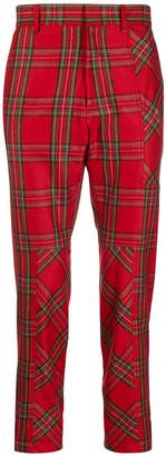 Just Cavalli tartan print trousers