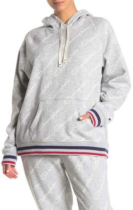 Champion Heritage Logo Fleece Lined Pullover Hoodie