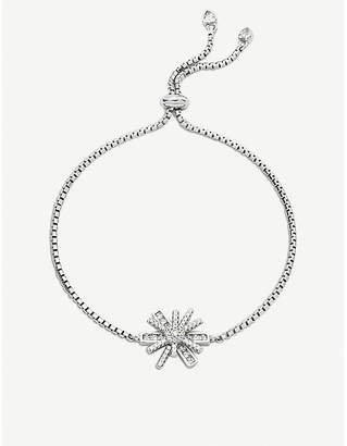 Folli Follie Star Flower rhodium-plated adjustable bracelet
