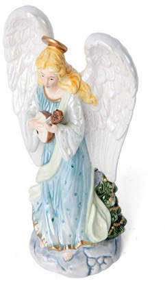 Fitz & Floyd Taper Candleholder, Angel with Lute