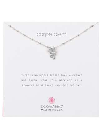 Dogeared Sterling Silver 'Carpe Diem' Beaded Dragon Pendant Necklace