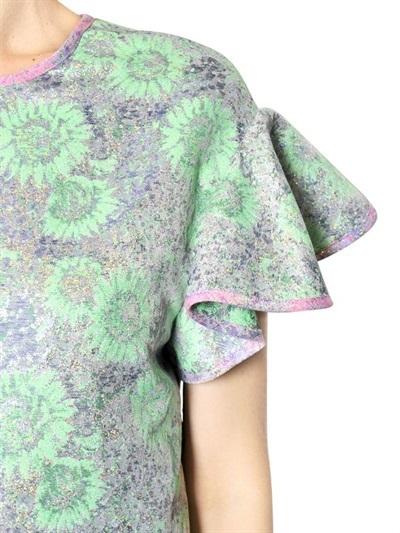 MSGM Lurex Techno Brocade Effect Dress