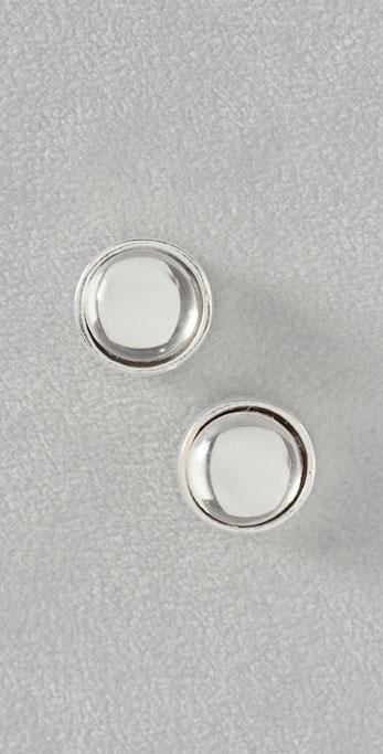 Rachel Leigh Silver Circle Crystal Stud Earrings