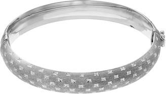 Sterling Silver Textured Bangle Bracelet