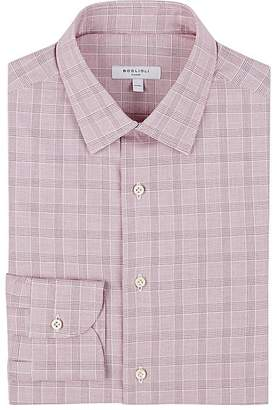 Boglioli Men's Prince Of Wales-Checked Cotton Poplin Dress Shirt