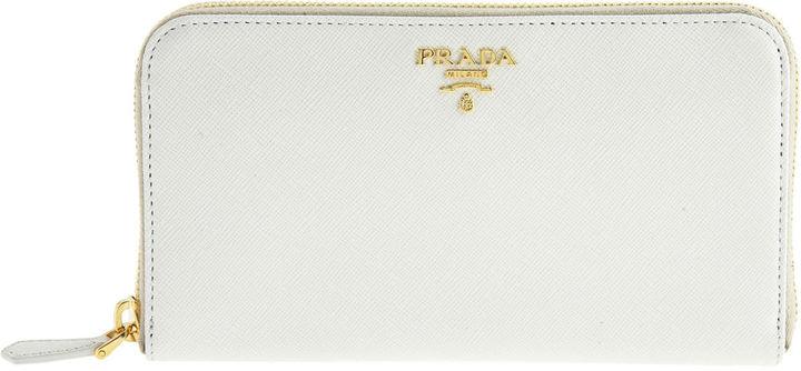 PRADA Saffiano Wallet - Ivory