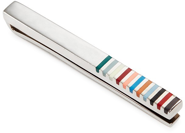 Paul Smith Paul Smith Multi Stripe Tie Clip