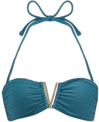 Heidi Klein Ubud V Bandeau Bikini Top - Womens - Green