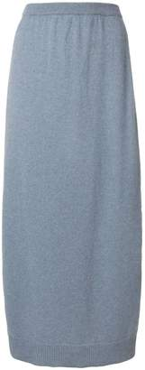Pringle side slit midi skirt