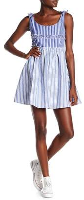 Romeo & Juliet Couture Striped Scoop Neck Dress