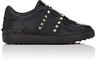 "Valentino Women's ""Open"" Leather Sneakers - Black"