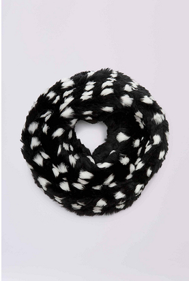 Graphic Rabbit Fur Circle Scarf $398 thestylecure.com
